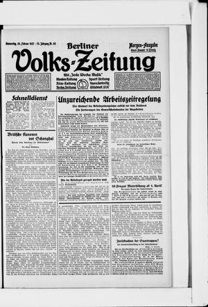 Berliner Volkszeitung vom 24.02.1927