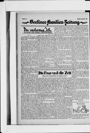 Berliner Volkszeitung vom 25.02.1927