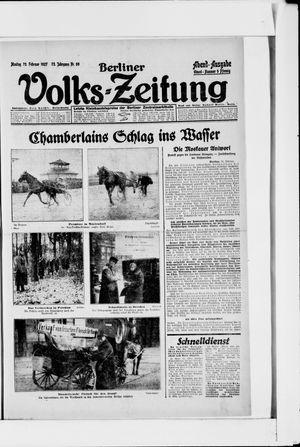 Berliner Volkszeitung vom 28.02.1927