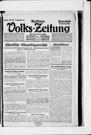 Berliner Volkszeitung vom 01.03.1927