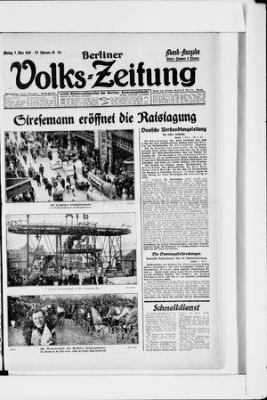 Berliner Volkszeitung vom 07.03.1927