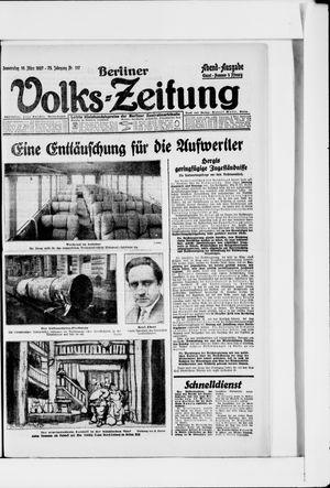 Berliner Volkszeitung vom 10.03.1927