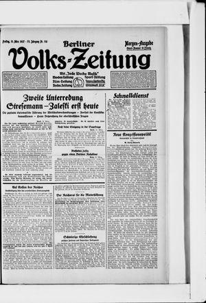 Berliner Volkszeitung vom 11.03.1927