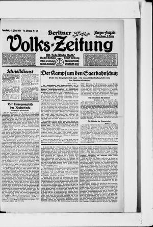 Berliner Volkszeitung vom 12.03.1927