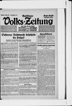 Berliner Volkszeitung vom 15.03.1927