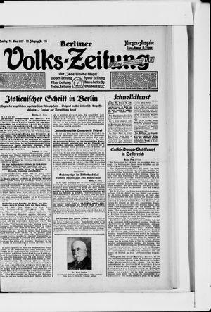 Berliner Volkszeitung vom 20.03.1927