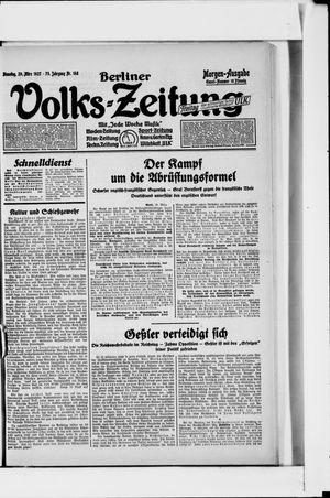 Berliner Volkszeitung vom 29.03.1927