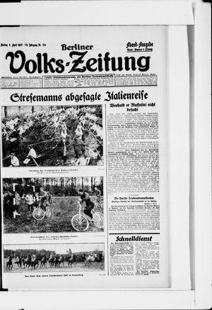 Berliner Volkszeitung vom 04.04.1927