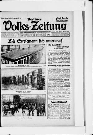 Berliner Volkszeitung vom 05.04.1927