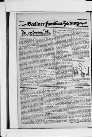 Berliner Volkszeitung vom 11.04.1927