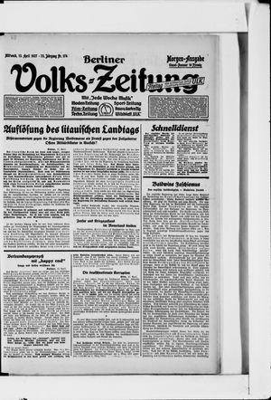Berliner Volkszeitung vom 13.04.1927
