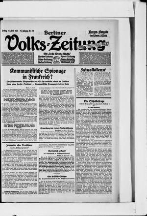 Berliner Volkszeitung on Apr 15, 1927