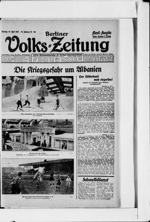 Berliner Volkszeitung vom 19.04.1927