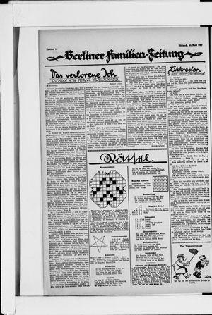 Berliner Volkszeitung vom 20.04.1927