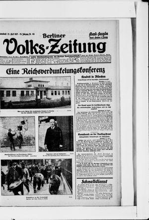 Berliner Volkszeitung vom 23.04.1927