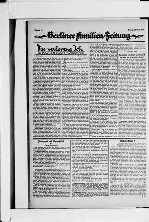 Berliner Volkszeitung vom 25.04.1927