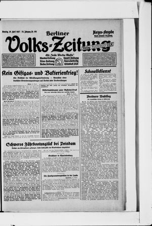 Berliner Volkszeitung vom 26.04.1927