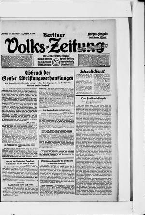 Berliner Volkszeitung on Apr 27, 1927