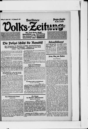 Berliner Volkszeitung vom 29.04.1927