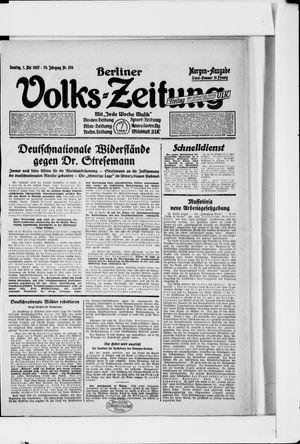 Berliner Volkszeitung vom 01.05.1927