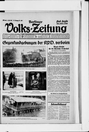 Berliner Volkszeitung vom 04.05.1927