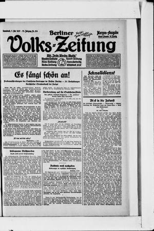 Berliner Volkszeitung vom 07.05.1927