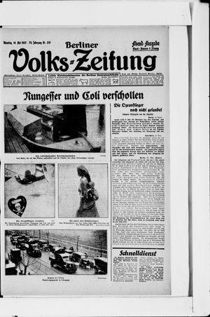 Berliner Volkszeitung vom 10.05.1927