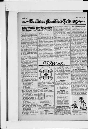Berliner Volkszeitung vom 11.05.1927