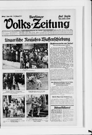 Berliner Volkszeitung vom 02.01.1928