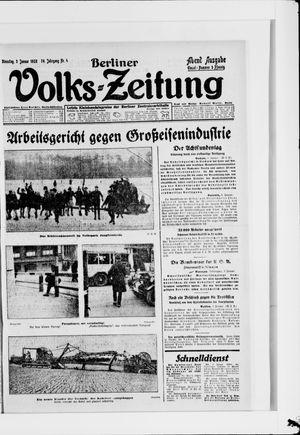 Berliner Volkszeitung vom 03.01.1928