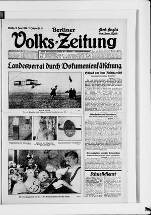 Berliner Volkszeitung vom 10.01.1928