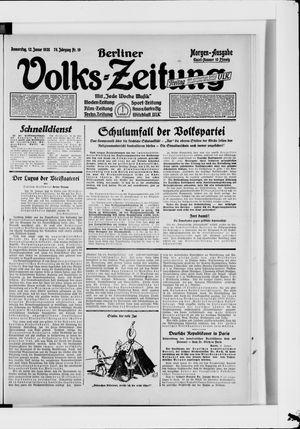 Berliner Volkszeitung on Jan 12, 1928