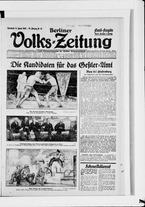 Berliner Volkszeitung vom 14.01.1928