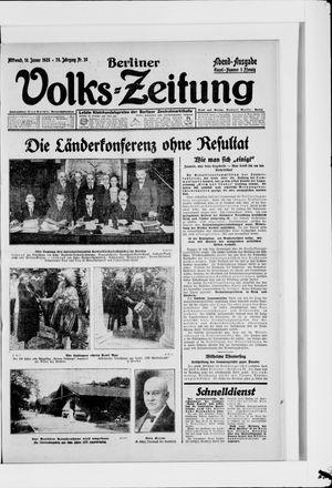 Berliner Volkszeitung vom 18.01.1928