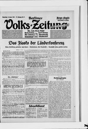 Berliner Volkszeitung vom 19.01.1928