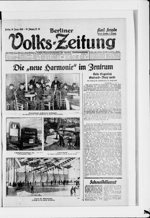 Berliner Volkszeitung vom 20.01.1928