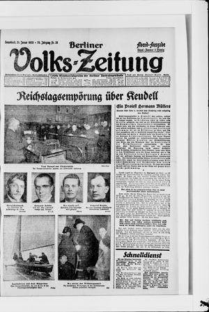 Berliner Volkszeitung vom 21.01.1928