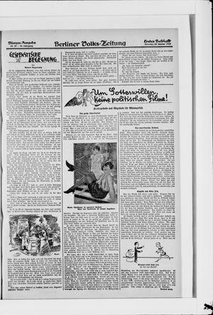 Berliner Volkszeitung vom 22.01.1928