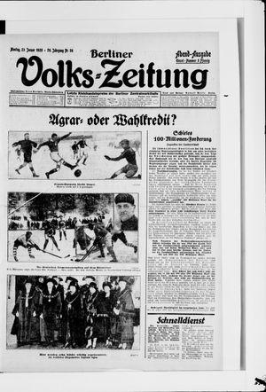 Berliner Volkszeitung vom 23.01.1928