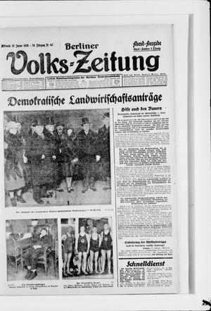 Berliner Volkszeitung vom 25.01.1928