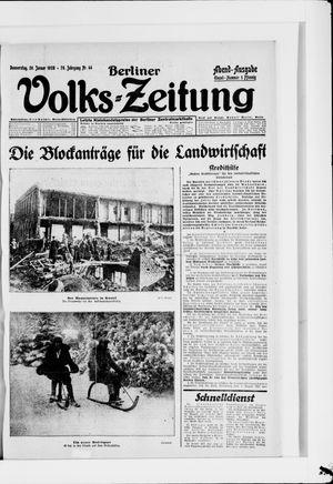 Berliner Volkszeitung vom 26.01.1928