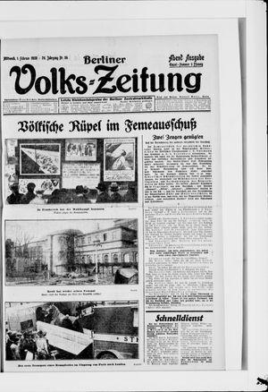 Berliner Volkszeitung vom 01.02.1928