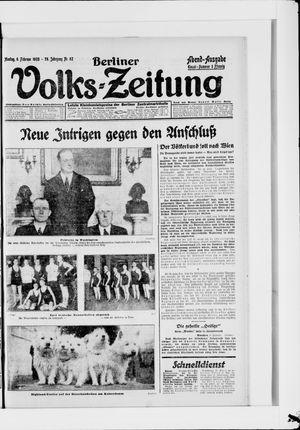 Berliner Volkszeitung vom 06.02.1928