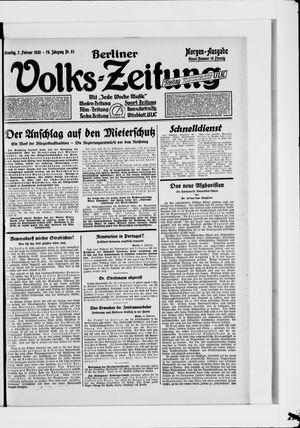 Berliner Volkszeitung vom 07.02.1928