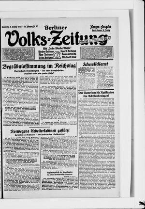 Berliner Volkszeitung vom 09.02.1928