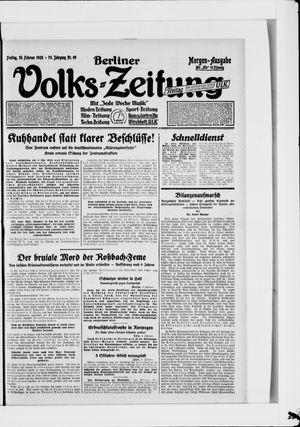 Berliner Volkszeitung vom 10.02.1928