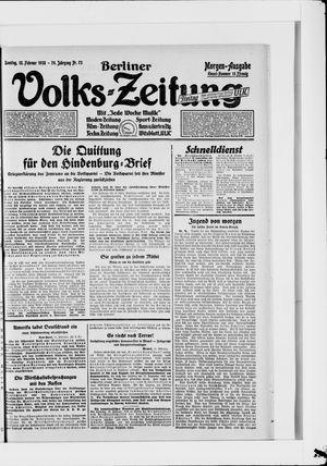 Berliner Volkszeitung vom 12.02.1928