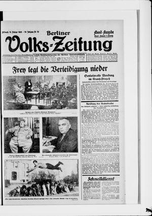 Berliner Volkszeitung vom 15.02.1928