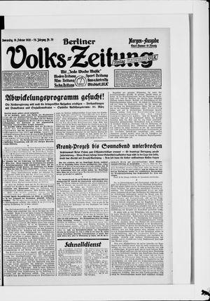 Berliner Volkszeitung vom 16.02.1928
