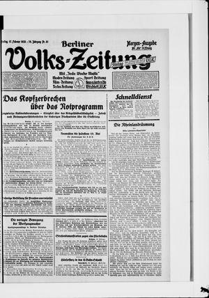 Berliner Volkszeitung vom 17.02.1928